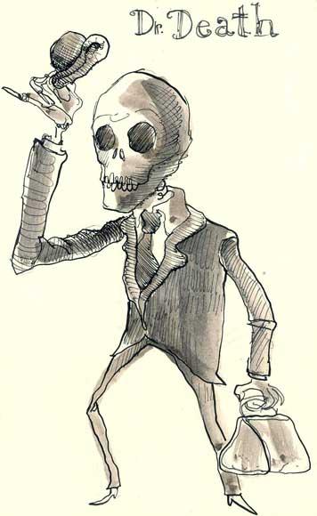 Tod, Tuschmalerei, Moleskine, Zeichnungen, Meister, Gruß