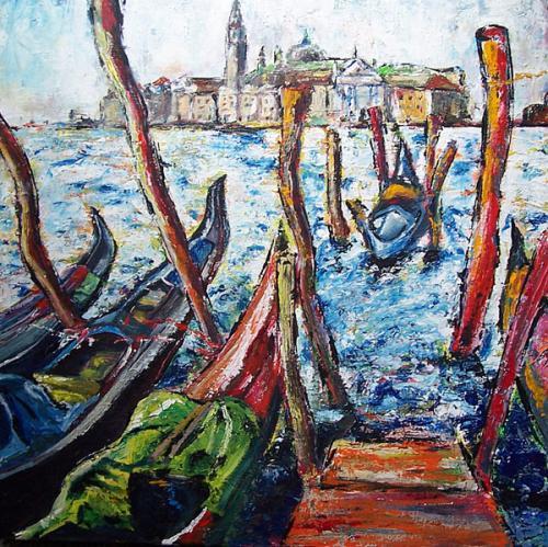 Meer, Venedig, Wind, Malerei, Blau