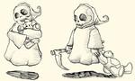 Tod, Teddybär, Zeichnungen