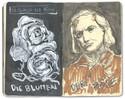 Blumen, Böse, Baudelaire, Tuschmalerei