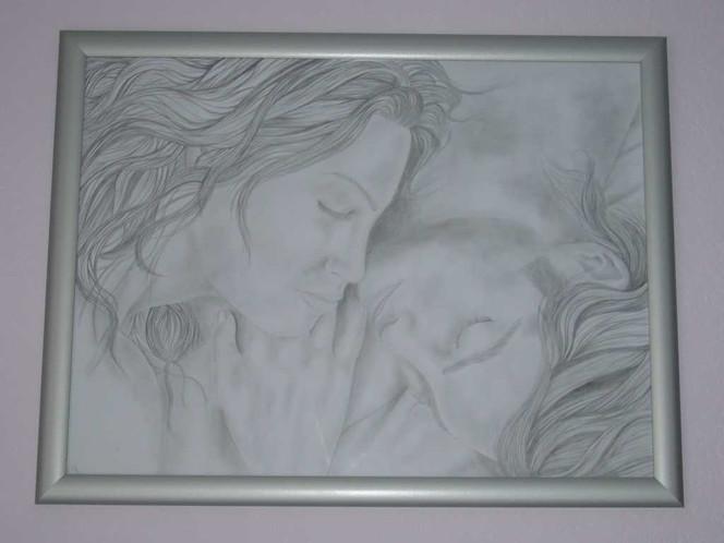 Zeichnung, Portrait, Liebe, Schlaf, Zeichnungen,