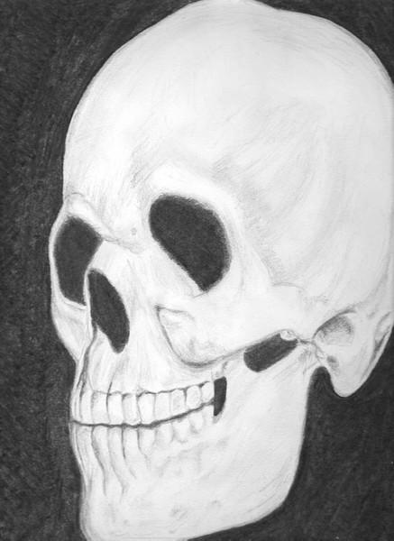 Tod, Zeichnung, Skelett, Zeichnungen, Schädel
