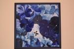 Blau, Malerei, Stiefmütterchen, Blumen