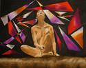 Acrylmalerei, Malerei, Figur, Abstrakt