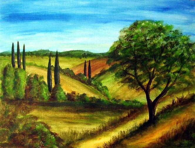 Toskana, Malerei, Landschaft