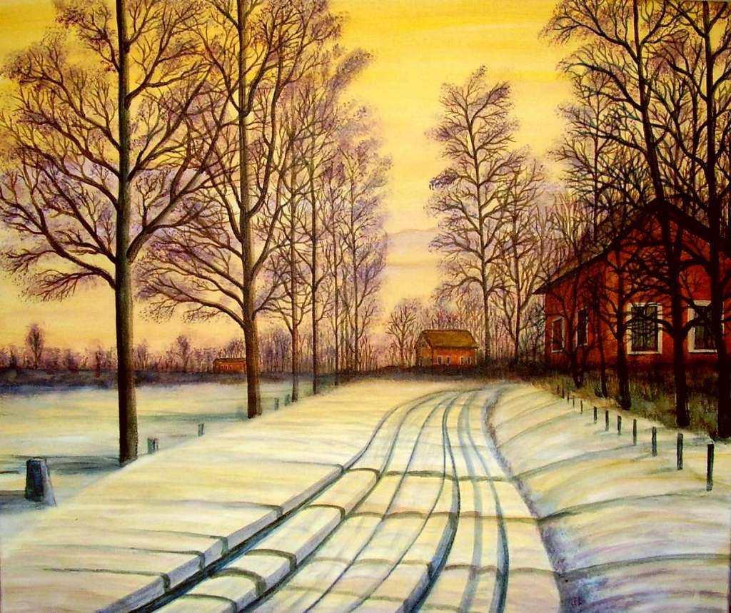 Winterlandschaft 2 - Bild / Kunst von Mike bei KunstNet