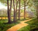 Baum, Landschaft, Malerei, Wald