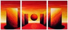 Weite, Abstrakt, Horizont, Malerei