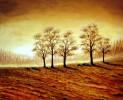 Baum, Herbst, Braun, Malerei