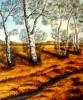Malerei, Landschaft, Bach, Herbst