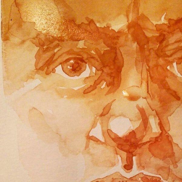 Gesicht, Aquarellmalerei, Aquarell