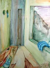Surreal, Malerei, Blau