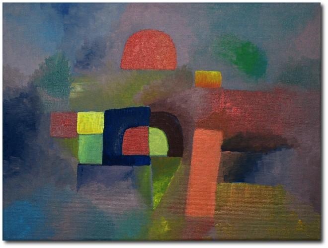 Licht, Abstrakt, Abend, Malerei