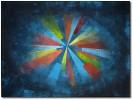 Abstrakt, Blau, Granuliert, Malerei