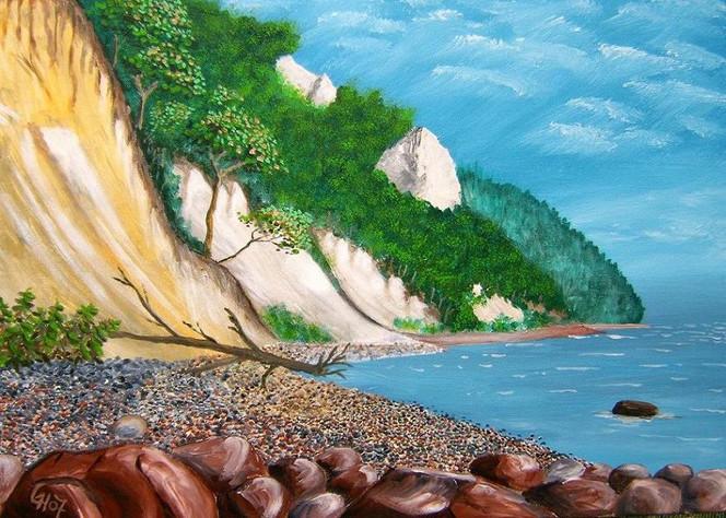 Landschaft, Meer, Malerei, Acrylmalerei, Rügen