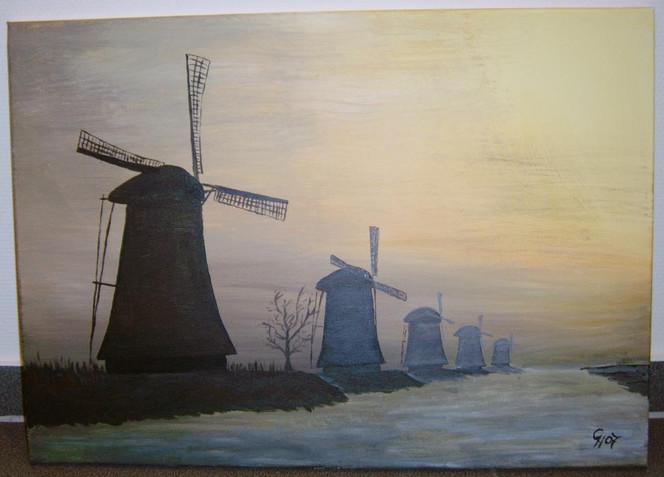 Landschaft, Acrylmalerei, Malerei, Holland