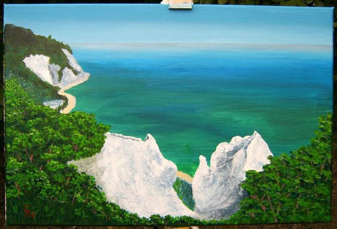Acrylmalerei, Landschaft, Malerei, Rügen