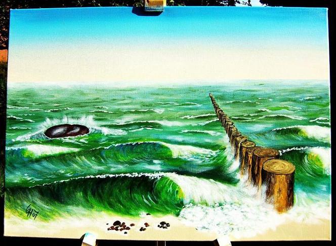 Malerei, Strand