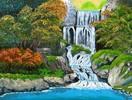 Landschaft, Acrylmalerei, Malerei, Wasser