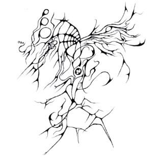 Zeichnung, Zweifarbig, Abstrakt, Zeichnungen, Elemente