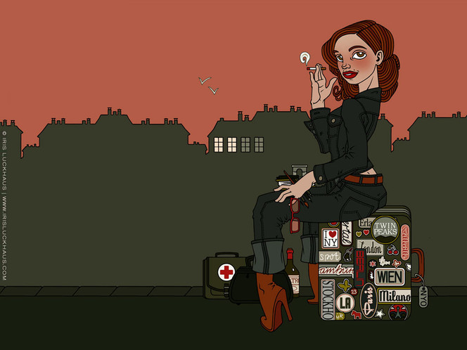 Plakatkunst, Aufkleber, Paris, Reise, Grafik, Skyline