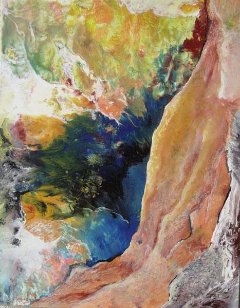 Malerei, Berge, Fantasie, Abstrakt, Natur, Acrylmalerei
