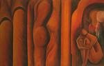 Natur, Abstrakt, Figur, Acrylmalerei