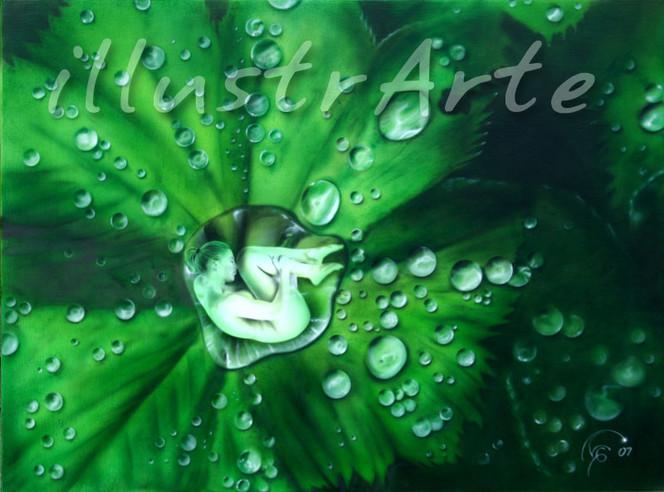 Diva, Erotik, Wasser, Airbrush, Malerei, Serie