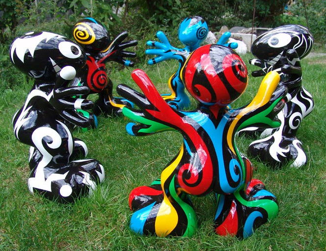 Knackarsch, Fried, Skulptur, Polyester, Figural, Plastik