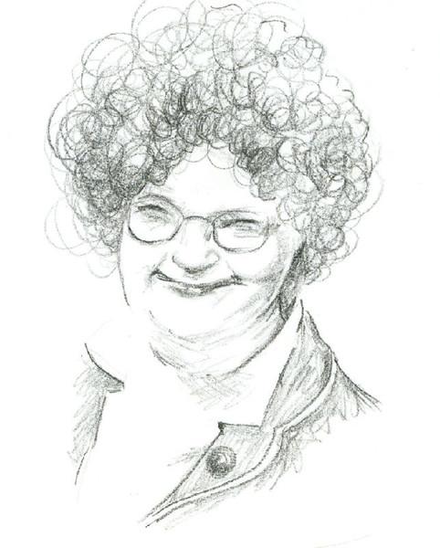 Portrait, Frau, Bleistiftzeichnung, Zeichnung, Locken, Zeichnungen