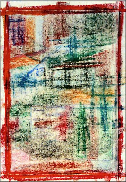 Malerei, Pastellmalerei, Farben, Abstrakt