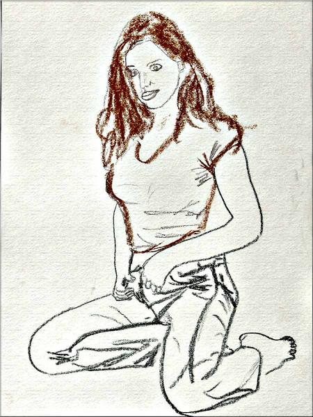Skizze, Pastellmalerei, Figur, Malerei, Zeichnung