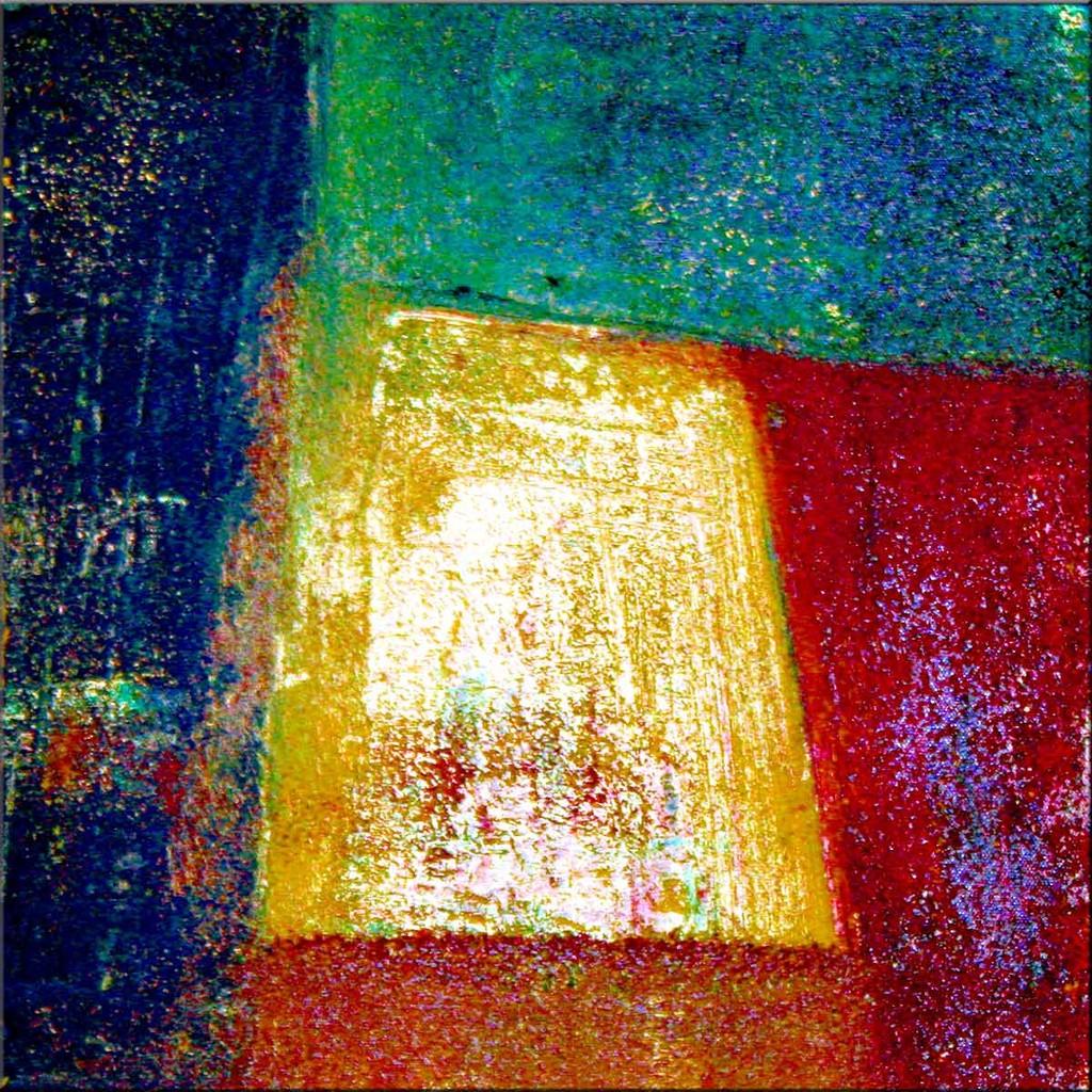 Abstrakte Form XXIII - Baumwolle, Mischtechnik, Struktur