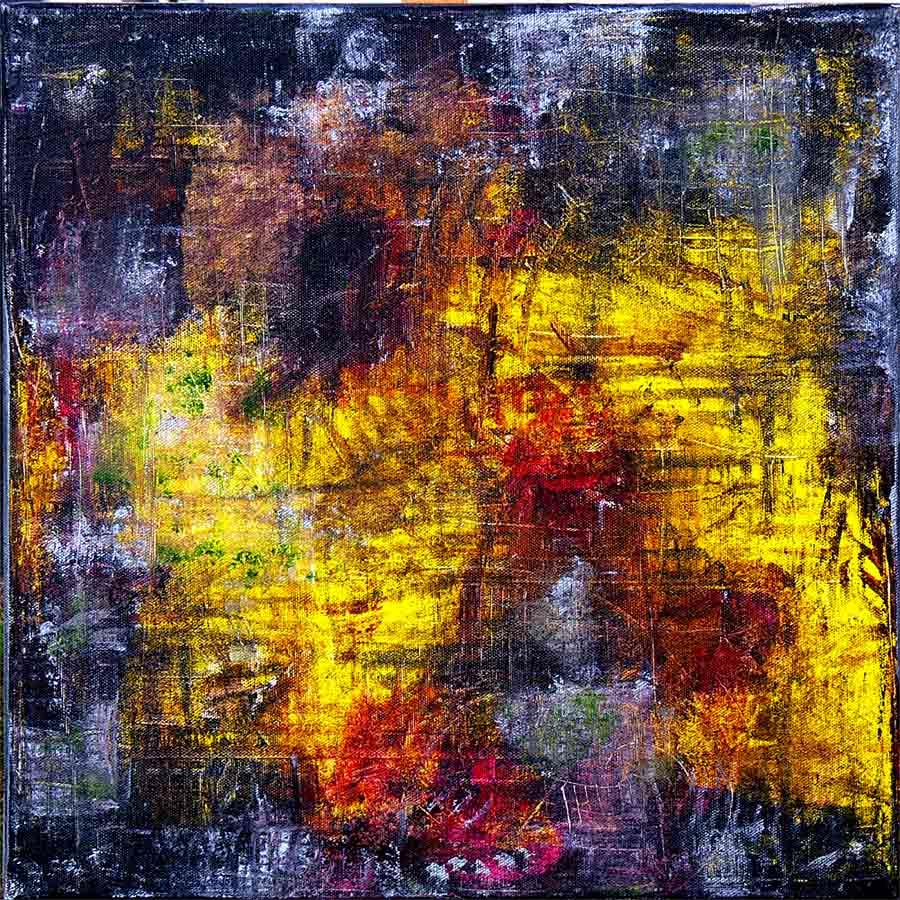 Abstrakte Struktur IV - Abstrakt, Acrylmalerei, Malerei