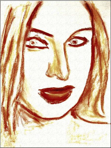 Skizze, Malerei, Pastellmalerei, Portrait, Zeichnung