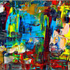 Komposition, Farben, Abstrakt, Acrylmalerei