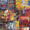 Acrylmalerei, Spachtel, Farben, Abstrakt
