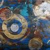 Spachtel, Abstrakt, Sprühen, Acrylmalerei