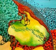 Acrylmalerei, Landschaft, Bunt, Meer