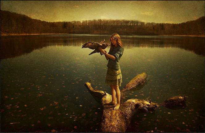 Frühling, Mädchen, Philosophie, Wasser, Schön, Adler