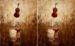 Surreal, Frau, Balance, Cello