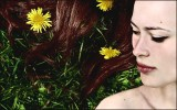 Butterblumen, Portrait, Menschen, Löwenzahn