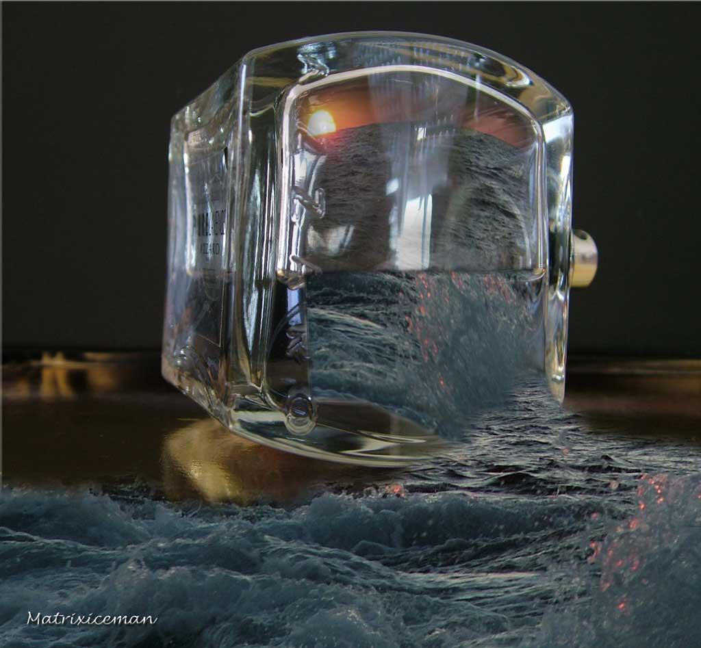 the parfum parf m teneriffa wasser flasche von andreas bei kunstnet. Black Bedroom Furniture Sets. Home Design Ideas