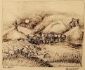 Berge, Zeichnung, Stein, Landschaft