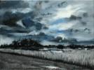 Mond, Malerei, Grau, Sumpf