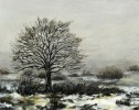 Winter, Landschaft, Malerei, Baum