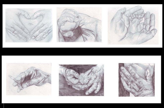 Portrait, Zeichnung, Zeichnungen, Jung, Alt