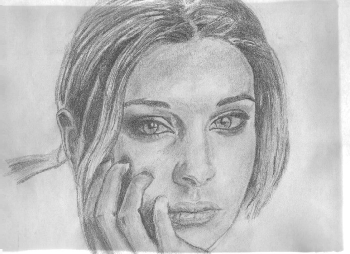 Bleistift Portrait Zeichnen Gesicht Skizzen Www Tollebild Com