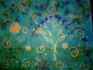 Feuerwerk, Abstrakt, Malerei, Silvester