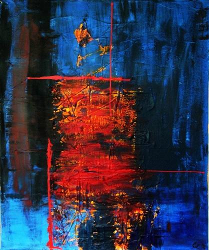 Bild malerei abstrakt von beejay bei kunstnet for Vorlagen malerei